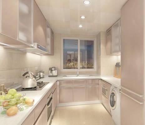 家居封闭厨房383D模型【ID:417075932】