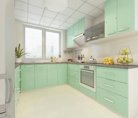 家居封闭厨房403D模型【ID:417075942】