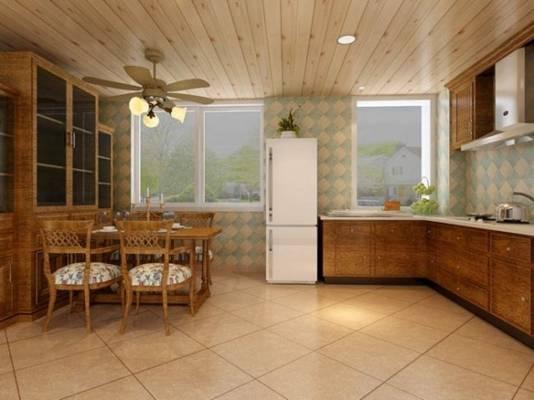 家居封闭厨房533D模型【ID:417075978】