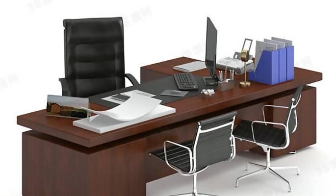 办公桌椅组合13D模型【ID:417119184】