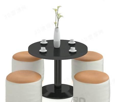 椅子茶几组合63D模型【ID:417120035】