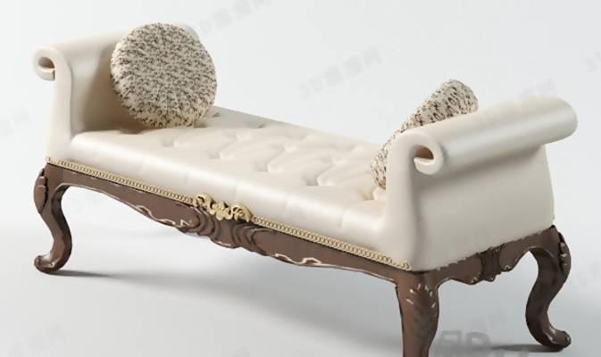 沙发凳13D模型【ID:417121274】