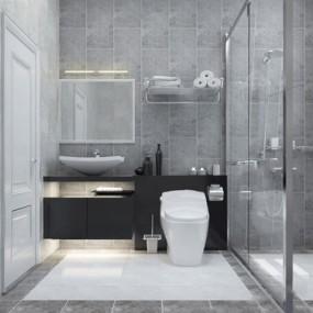 现代卫浴用品3D模型【ID:127866746】