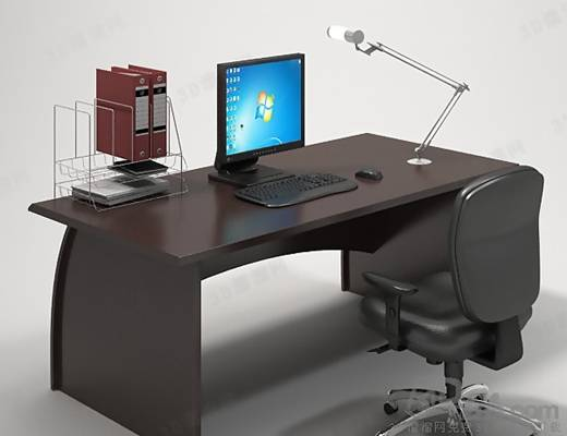 办公桌椅组合173D模型【ID:417156107】