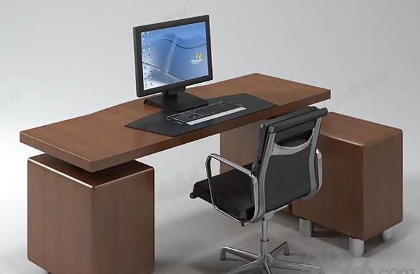 办公桌椅组合233D模型【ID:417156118】
