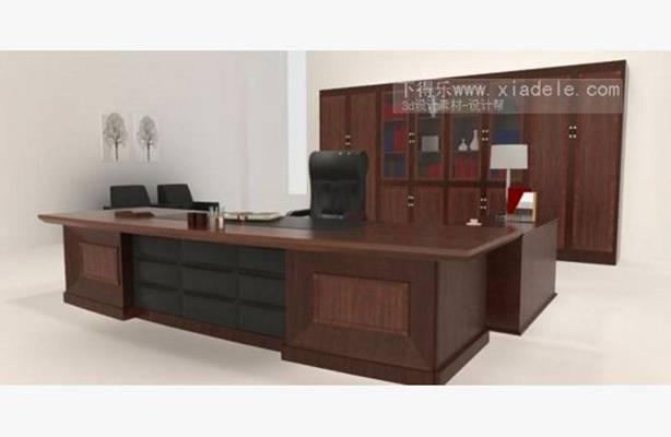 办公桌椅组合23D模型【ID:417156122】