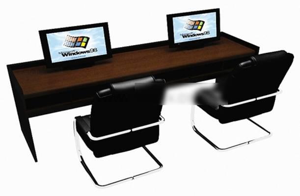 办公桌椅组合43D模型【ID:417156123】