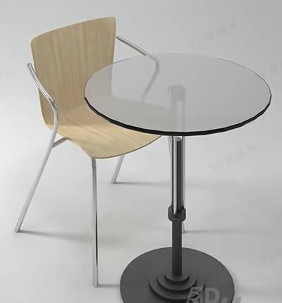 椅子茶几组合43D模型【ID:417254013】