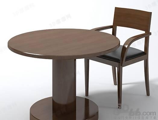 椅子茶几组合73D模型【ID:417254022】