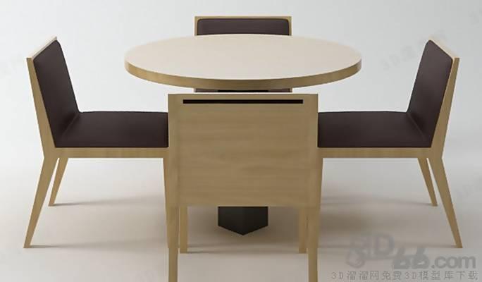 椅子茶几组合113D模型【ID:417254034】