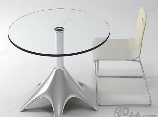 椅子茶几组合143D模型【ID:417254037】