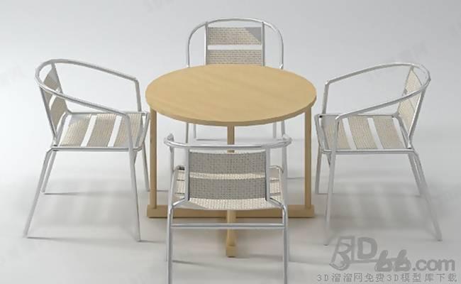 椅子茶几组合253D模型【ID:417254063】