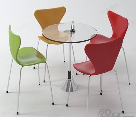 椅子茶几组合313D模型【ID:417254076】