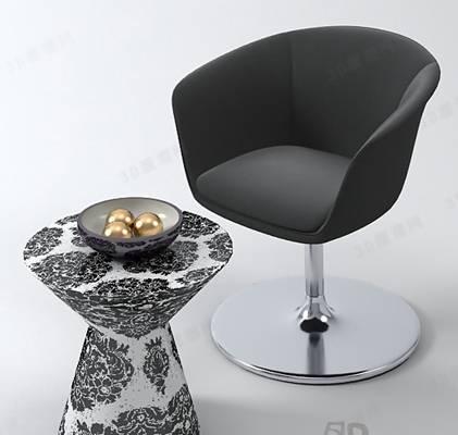 椅子茶几组合373D模型【ID:417254093】
