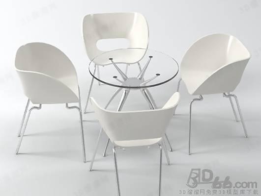 椅子茶几组合393D模型【ID:417254099】