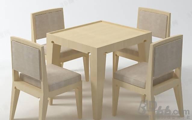 椅子茶几组合463D模型【ID:417255013】