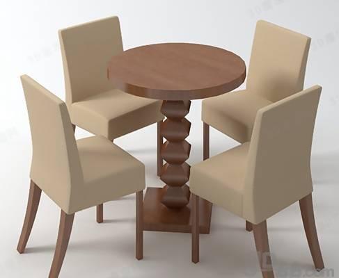 椅子茶几组合473D模型【ID:417255017】