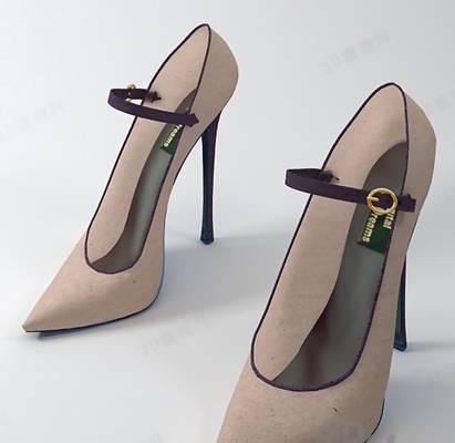 鞋子33D模型【ID:417283677】