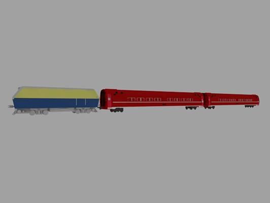 玩具火车13D模型【ID:417335962】