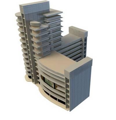 办公楼13D模型【ID:417359572】