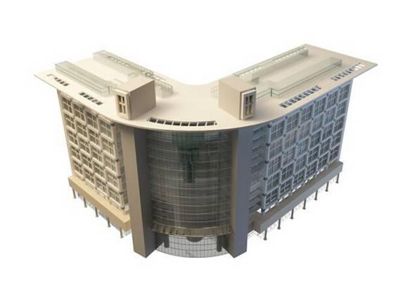办公楼23D模型【ID:417359579】
