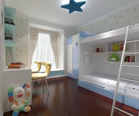现代男孩儿童房3D模型【ID:417415541】