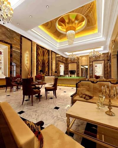 经典欧式金色售楼处3D模型【ID:417472533】