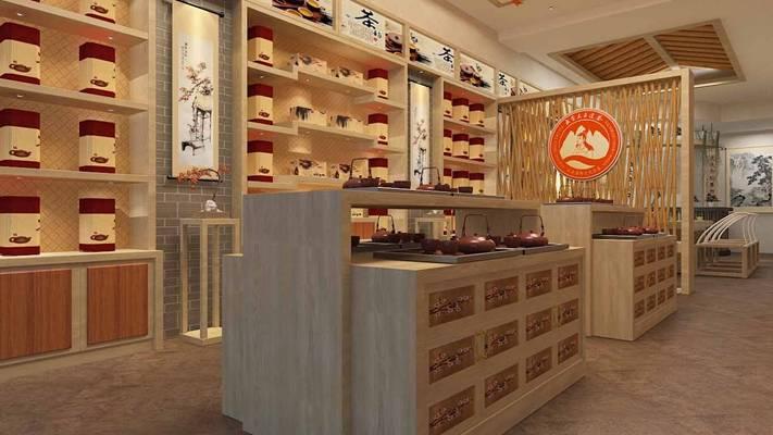 新中式茶馆3D模型【ID:417507141】