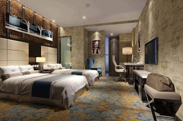 现代酒店客房3D模型【ID:417508626】