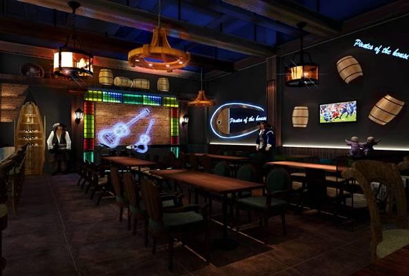 现代音乐餐厅3D模型【ID:417511037】
