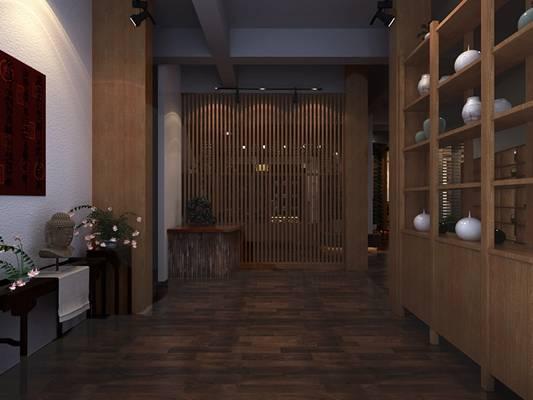 新中式茶馆3D模型【ID:417513194】