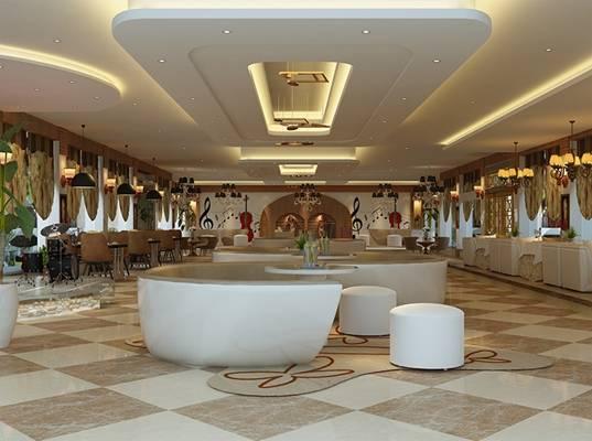 现代音乐餐厅3D模型【ID:417515093】