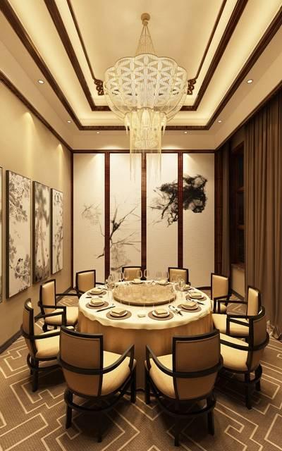 现代酒店宴会厅3D模型【ID:417573433】