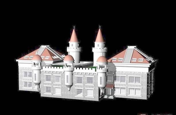 城堡3D模型【ID:417574163】