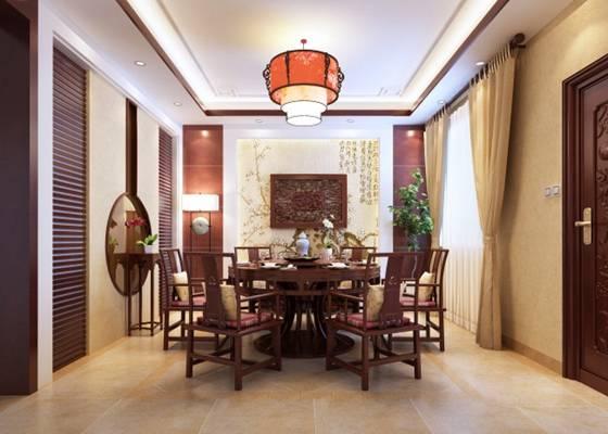 新中式酒店宴会厅3D模型【ID:417584410】
