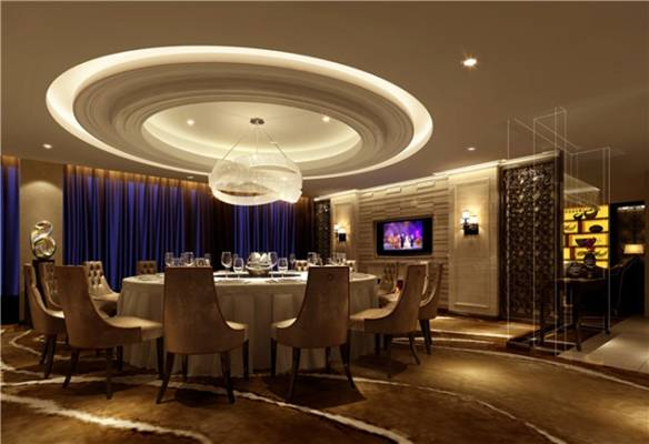 现代酒店宴会厅3D模型【ID:417584451】