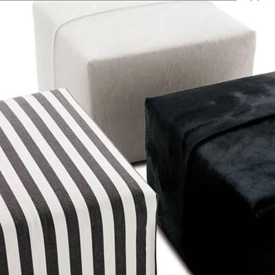 现代方型布艺沙发凳3D模型【ID:417589268】