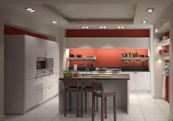 后现代家居封闭厨房3D模型【ID:417592975】