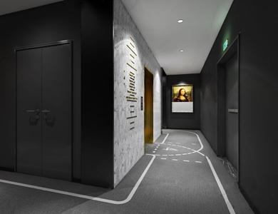 現代酒店過道3D模型【ID:732414426】