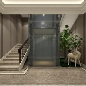 电梯间3D模型【ID:227877831】