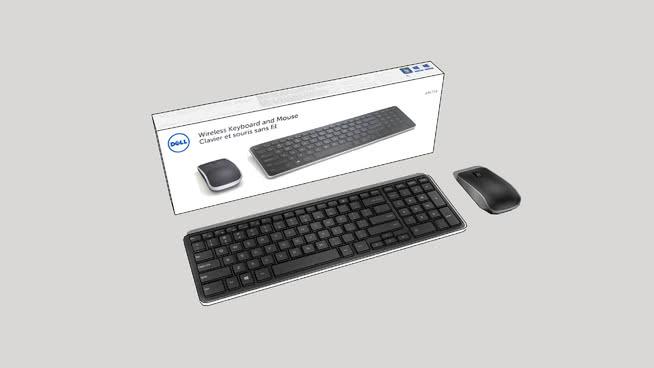 DelyKM7141無線鍵盤鼠標SU模型【ID:939677210】
