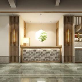新中式茶楼前台3D模型【ID:528010511】