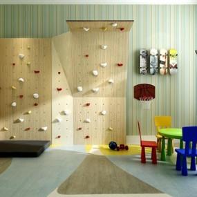 儿童游乐室运动器材组合3D模型【ID:828126046】