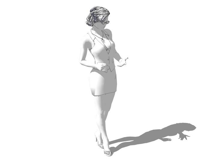 3D女人物SU模型【ID:136372708】