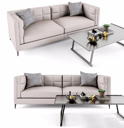 北欧双人沙发3D模型【ID:928339721】