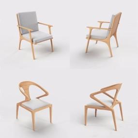 新中式椅子3D模型【ID:227884471】
