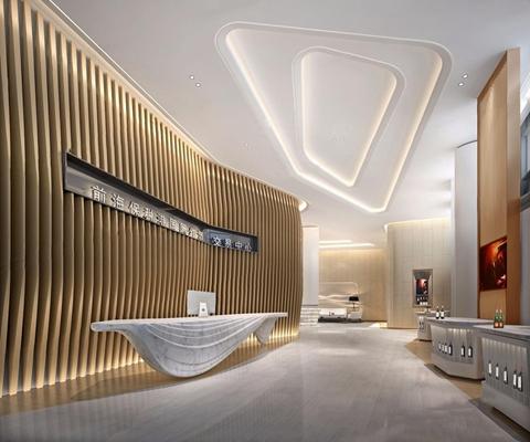现代红酒馆展厅3D模型【ID:228020298】