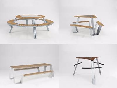 比利时 Extremis 户外餐桌椅 现代餐桌椅 户外餐桌椅 餐桌 休闲椅 休闲桌