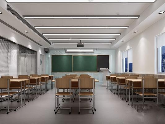 教室3D模型【ID:120017844】