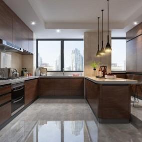 现代厨房3D模型【ID:528037032】